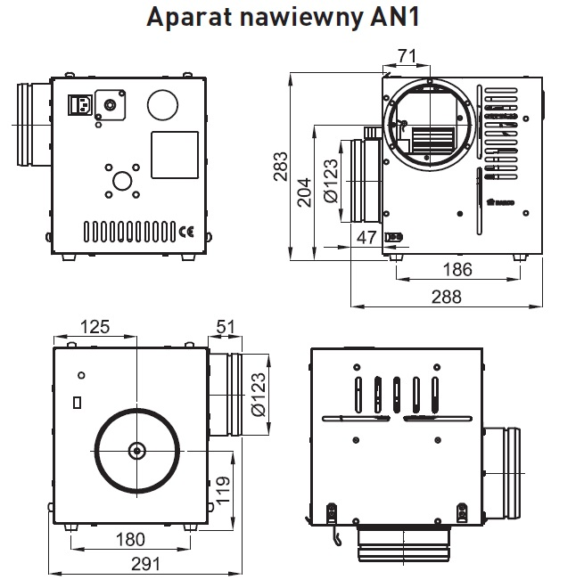 aparat nawiewny an1