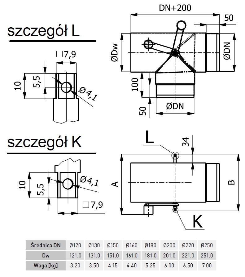 trójnik kominowy kierunkowy