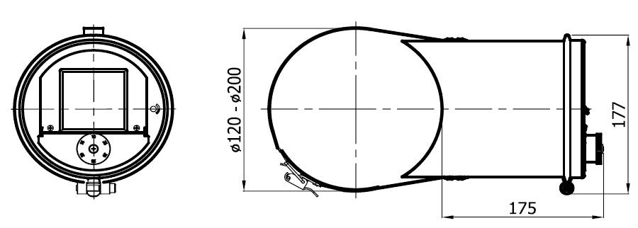 regulator ciągu kominowego z opaską