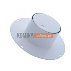 Pokrętło szybra kominowego okrągłe białe