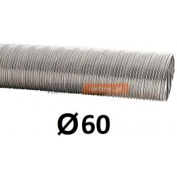 Rura elastyczna spiro kwasoodporna 60 mm