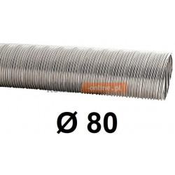 Rura elastyczna spiro kwasoodporna 80 mm