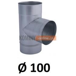 Trójnik 100 ocynkowany 90 stopni