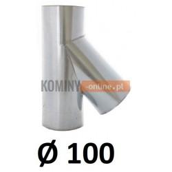 Trójnik 100 ocynkowany 45 stopni