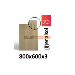 Płyta kominkowa wermikulitowa 80x60 cm
