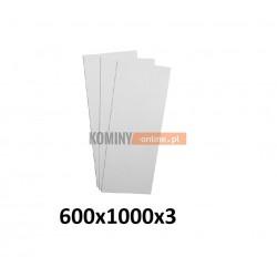 Płyta wapienna do kominka 600x1000 mm SUPERISOL