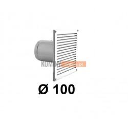 Czerpnia powietrza ścienna kwadratowa 100 mm biała