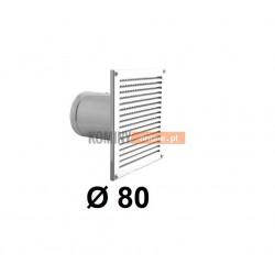 Czerpnia powietrza ścienna kwadratowa 80 mm biała