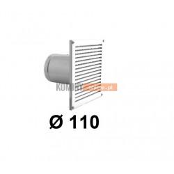 Czerpnia powietrza ścienna kwadratowa 110 mm biała