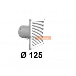 Czerpnia powietrza ścienna kwadratowa 125 mm biała