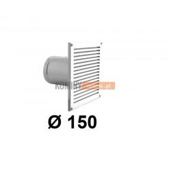 Czerpnia powietrza ścienna kwadratowa 150 mm biała