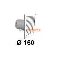 Czerpnia powietrza ścienna kwadratowa 160 mm biała