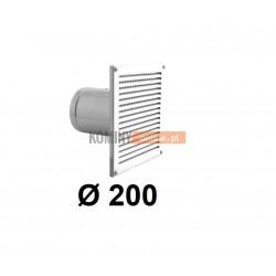Czerpnia powietrza ścienna kwadratowa 200 mm biała