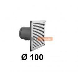 Czerpnia powietrza prostokątna z siatką 100 mm nierdzewna