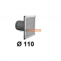 Czerpnia powietrza prostokątna z siatką 110 mm nierdzewna