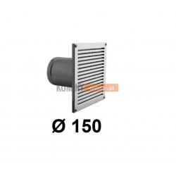 Czerpnia powietrza prostokątna z siatką 150 mm nierdzewna