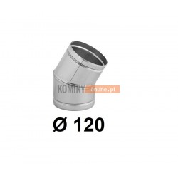 Kolano nastawne 120 mm / ∡ 0-30°