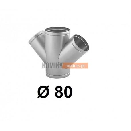 Czwórnik okrągły 80 mm / ∡ 45°