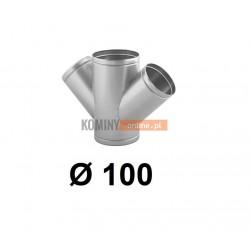 Czwórnik okrągły 100 mm / ∡ 45°