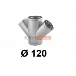 Czwórnik okrągły 120 mm / ∡ 45°