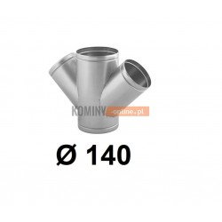 Czwórnik okrągły 140 mm / ∡ 45°