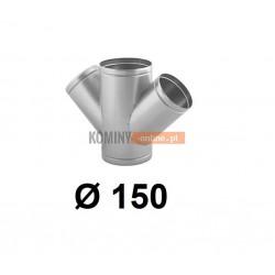 Czwórnik okrągły 150 mm / ∡ 45°