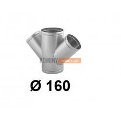 Czwórnik okrągły 160 mm / ∡ 45°