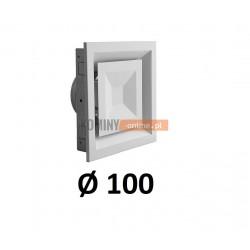 Anemostat kwadratowy 100 mm regulowany