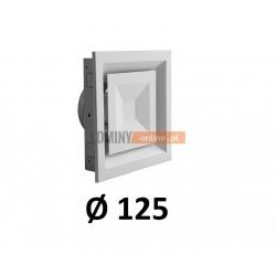 Anemostat kwadratowy 125 mm regulowany