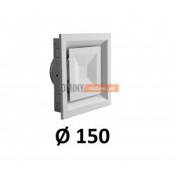 Anemostat kwadratowy 150 mm regulowany