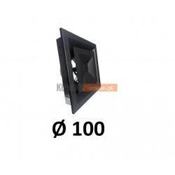 Anemostat kwadratowy 100 mm regulowany czarny