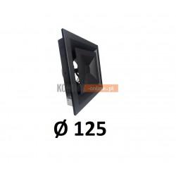 Anemostat kwadratowy 125 mm regulowany czarny