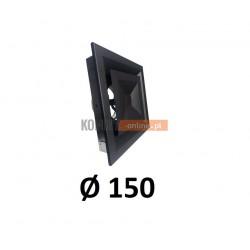 Anemostat kwadratowy 150 mm regulowany czarny