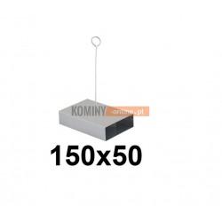 Przepustnica płaska 150x50 mm