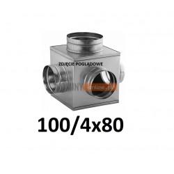 Skrzynka rozprężna 100-4x80 mm