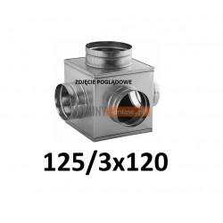 Skrzynka rozprężna 125-3x120 mm