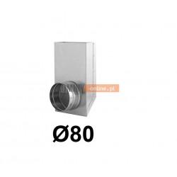 Redukcja prostokąt koło 150x50-80 mm