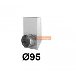 Redukcja prostokąt koło 150x50-95 mm