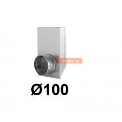 Redukcja prostokąt koło 150x50-100 mm