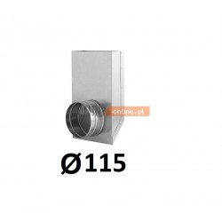 Redukcja prostokąt koło 150x50-115 mm
