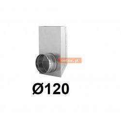 Redukcja prostokąt koło 150x50-120 mm