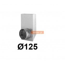 Redukcja prostokąt koło 150x50-125 mm