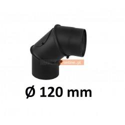 Kolano kominowe regulowane 120 mm CZARNE