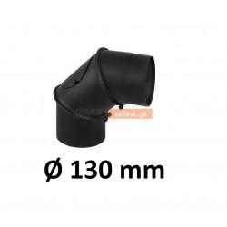 Kolano kominowe regulowane 130 mm CZARNE