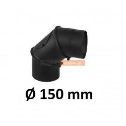 Kolano kominowe regulowane 150 mm CZARNE