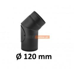 Kolano kominowe żaroodporne 120 mm z rewizją 45 stopni