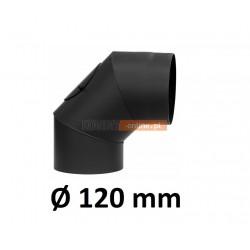 Kolano kominowe żaroodporne 120 mm z rewizją 90 stopni