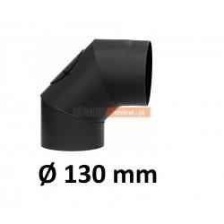 Kolano kominowe żaroodporne 130 mm z rewizją 90 stopni