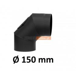 Kolano kominowe żaroodporne 150 mm z rewizją 90 stopni