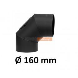 Kolano kominowe żaroodporne 160 mm z rewizją 90 stopni